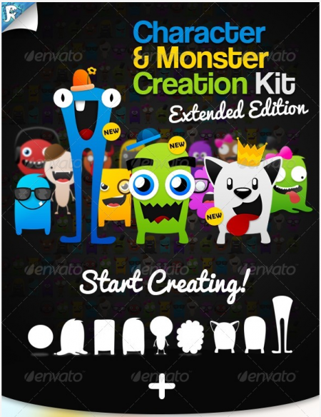 [Get] Graphic River – Character and Monster Creation Kit