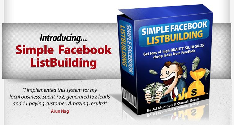 get simple facebook listbuilding brand new fb method
