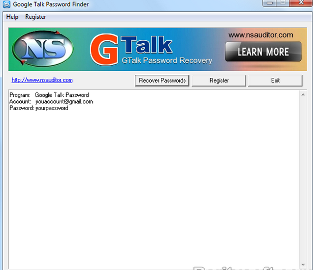 Gtalk Password Finder download