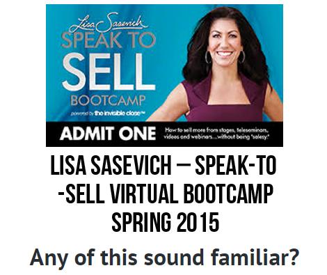 [Get] Speak-to-Sell Virtual Bootcamp – Spring 2015 – Lisa Sasevich – eCashMiner Free Download