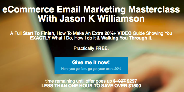 eCommerce Email Marketing Masterclass – Jason K Williamson download