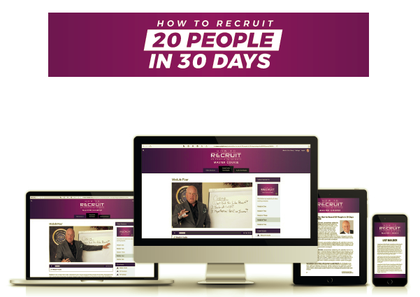 How To Recruit 20 People In 30 Days – Eric Worre download