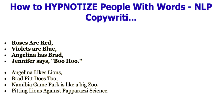 How to HYPNOTIZE People With Words - NLP Copywriti... download