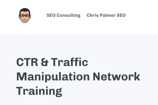 CTR and Traffic Manipulation Network Traning – Chris Palmer download