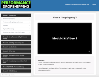Performance Dropshipping – Hayden Bowles download